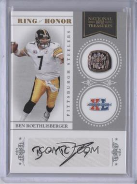 2010 Playoff National Treasures Ring of Honor Signatures [Autographed] #45 - Ben Roethlisberger /25