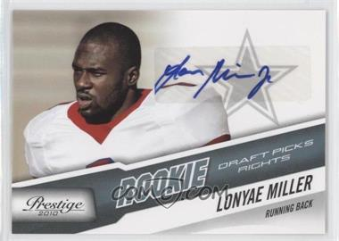 2010 Playoff Prestige - [Base] - Rookie Draft Picks Rights Autographs #268 - Lonyae Miller /999