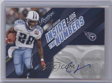 2010 Playoff Prestige - Inside Numbers - Autographs [Autographed] #1 - Chris Johnson /10