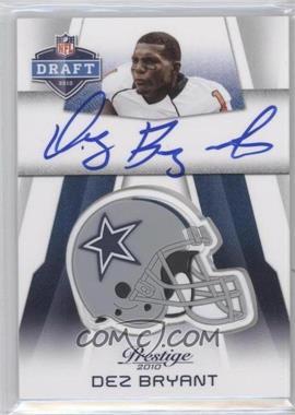 2010 Playoff Prestige - Pro Helmets Autographs #NFL-DB - Dez Bryant