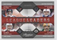 Matt Schaub, Peyton Manning, Tony Romo