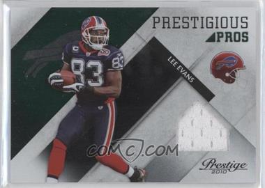 2010 Playoff Prestige Prestigious Pros Green Materials #30 - Lee Evans /100