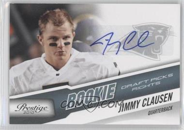 2010 Playoff Prestige Rookie Draft Picks Rights Autographs #256 - Jimmy Clausen /99