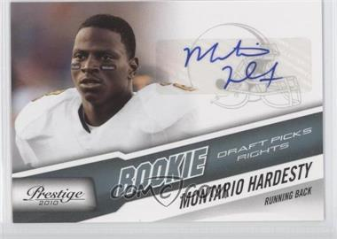 2010 Playoff Prestige Rookie Draft Picks Rights Autographs #273 - Montario Hardesty /399
