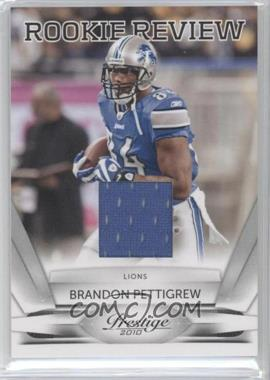 2010 Playoff Prestige Rookie Review Materials [Memorabilia] #16 - Brandon Pettigrew