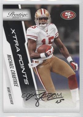 2010 Playoff Prestige Xtra Points Black Signatures #171 - Michael Crabtree /50