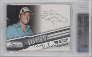 2010 Playoff Prestige #296.2 - Tim Tebow (out of uniform) [BGS 9]