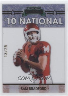 2010 Press Pass - Legends National Convention - Gold #NE-13/25 - Sam Bradford /25