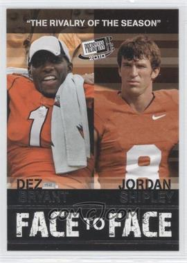 2010 Press Pass Portrait Edition Face to Face #FF-15 - Jordan Shipley, Dez Bryant