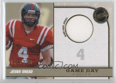 2010 Press Pass Portrait Edition Game Day Gear Gold #GDG-JS - Jevan Snead /199