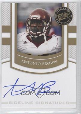 2010 Press Pass Portrait Edition Sideline Signatures Gold #SS-AB - Antonio Brown