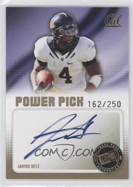 2010 Press Pass Power Pick Autographs #PP-JB - Jahvid Best /250