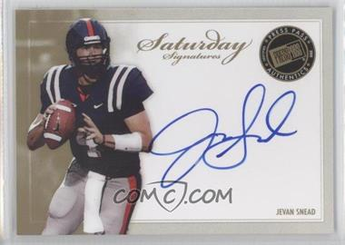 2010 Press Pass Saturday Signatures #SS-JS - Jevan Snead