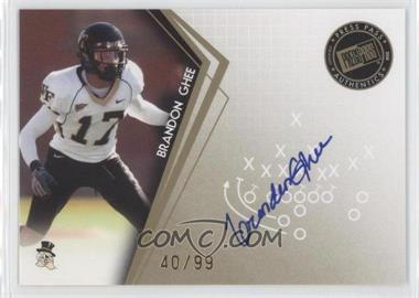 2010 Press Pass Signatures Gold #PPS-BG - Brandon Ghee /99