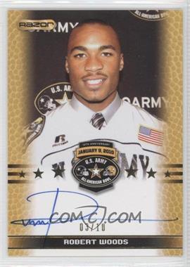 2010 Razor U.S. Army All-American Bowl - Selection Tour Autograph - Gold #TA-RW2 - Robert Woods /10
