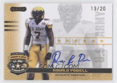 2010 Razor U.S. Army All-American Bowl Autographs Gold #BA-RP1 - Ronald Powell /20