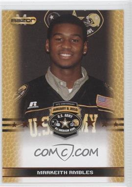 2010 Razor U.S. Army All-American Bowl Promos #MAAM - Marty Amsler