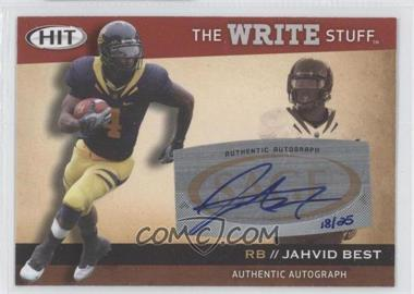 2010 SAGE Hit - The Write Stuff - Autographs [Autographed] #WSA11 - Jahvid Best /25