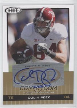 2010 SAGE Hit Autographs Gold [Autographed] #A34 - Colin Peek /250
