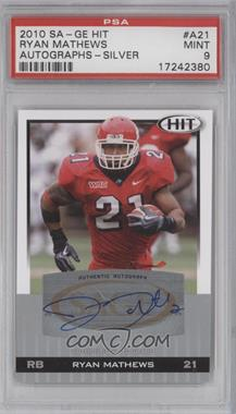2010 SAGE Hit Autographs Silver #A21 - Ryan Mathews [PSA 9]