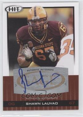 2010 SAGE Hit Autographs #A36 - Shawn Lauvao