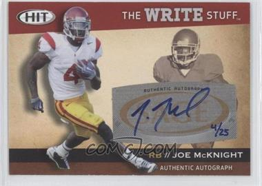 2010 SAGE Hit The Write Stuff Autographs [Autographed] #WSA8 - Joe McKnight /25