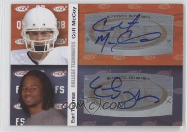 2010 SAGE Squared Dual Autographs #A23 - Earl Thomas, Colt McCoy