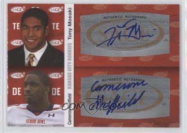 2010 SAGE Squared Dual Autographs #A43 - Tony Moeaki, Cameron Sheffield