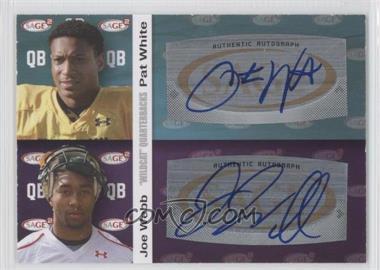 2010 SAGE Squared Dual Autographs #A5 - Pat White, Joe Webb