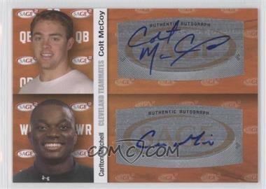 2010 SAGE Squared Dual Autographs #A63 - Carlton Mitchell, Colt McCoy