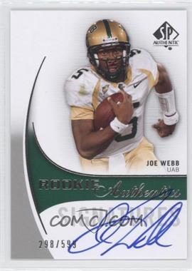 2010 SP Authentic - [Base] #157 - Joe Webb /599