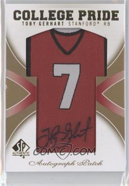 2010 SP Authentic College Pride Autographed Patches #CP-TG - Toby Gerhart