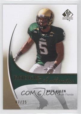 2010 SP Authentic Gold #198 - Nate Allen /25