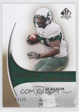 2010 SP Authentic Gold #202 - Ed Dickson /25