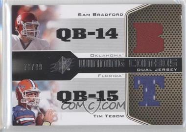 2010 SPx [???] #WC-QB - Sam Bradford, Tim Tebow /99