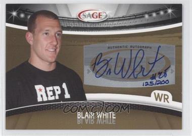 2010 Sage - Autographs - Gold #A-52 - Blair White /200