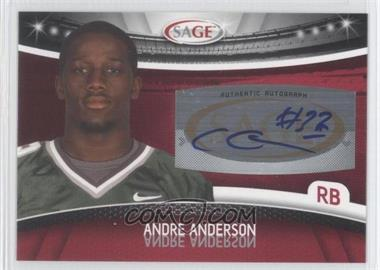 2010 Sage - Autographs - Red #A-3 - Andre' Anderson