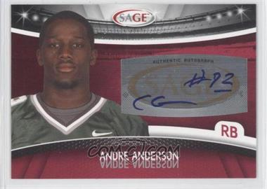 2010 Sage Autographs Red #A-3 - Andre' Anderson