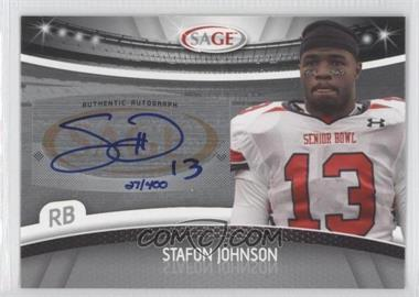 2010 Sage Autographs Silver #A-27 - Steve Johnson /400