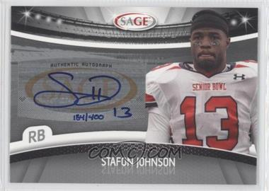 2010 Sage Autographs Silver #A-27 - Steve Johnson /400