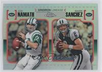 Joe Namath, Mark Sanchez /99