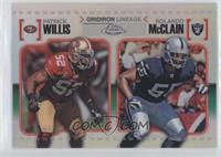 Patrick Willis, Rolando McClain /99