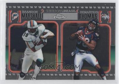 2010 Topps Chrome Gridiron Lineage #CGL-MT - Brandon Marshall, Demaryius Thomas