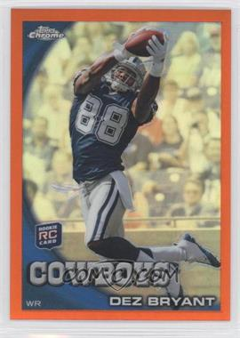 2010 Topps Chrome Rack Pack Orange Refractor #C60 - Dez Bryant