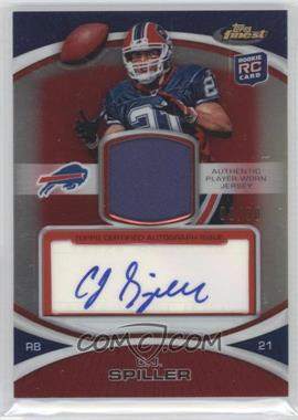 2010 Topps Finest - Rookie Patch Autographs - Red Refractor #7 - C.J. Spiller /50