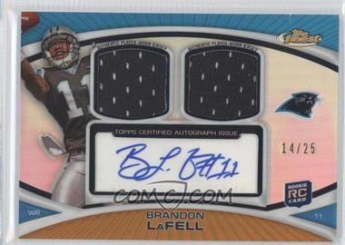 2010 Topps Finest Autograph Dual Relic Gold Refractor #FADR-BL - Brandon LaFell /25