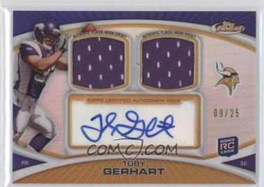 2010 Topps Finest Autograph Dual Relic Gold Refractor #FADR-TG - Toby Gerhart /25