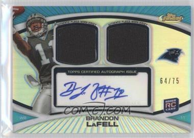 2010 Topps Finest Autograph Dual Relic Refractors #FADR-BL - Brandon LaFell /75