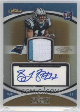 2010 Topps Finest Rookie Patch Autographs Gold Refractor #104 - Brandon LaFell /25