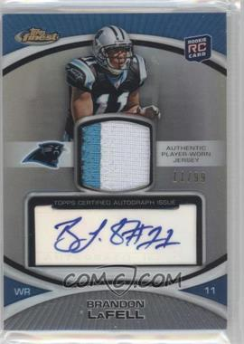 2010 Topps Finest Rookie Patch Autographs Refractor #104 - Brandon LaFell /99
